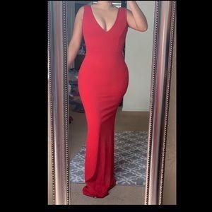 Long red dress***